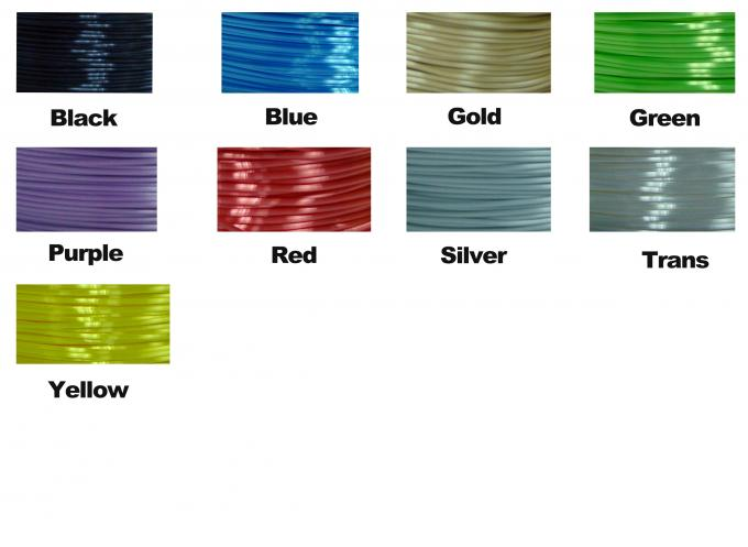 1.75mm / 3.0mm  Polymer Composites 3D Printer Filament , Imitation Silk Filament,High Gloss