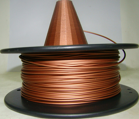 चीन Metal Copper Filament 1.75 3.0mm Metal 3d Printing Filament Natural Copper Filament आपूर्तिकर्ता