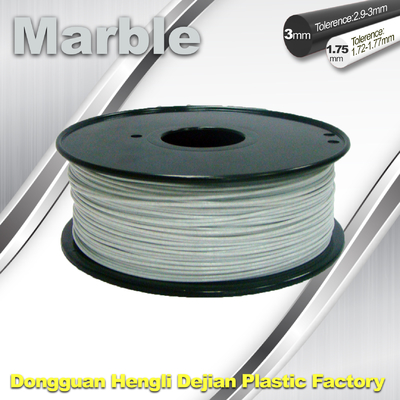 चीन Good Simple Sense Flexible 3d Printing Filament Marble Filament White Color आपूर्तिकर्ता