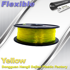चीन High Elasticity Yellow Flexible 3D Printer Filament 1.75 / 3.0 mm आपूर्तिकर्ता