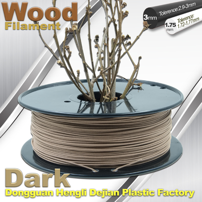 चीन Brown Materia 0.8kg / Roll 3D Printer Wood Filament 1.75mm 3mm आपूर्तिकर्ता
