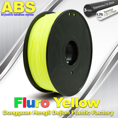 चीन High Precision Fluo - Yellow ABS 3D Printer Filament 1kg / Spool आपूर्तिकर्ता