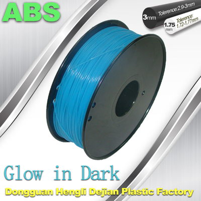 चीन OEM Glow In The Dark 3d Printer Filament Consumables Material  1.75mm ABS Filament आपूर्तिकर्ता