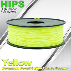 चीन Yellow HIPS 3d Printer Filament 1.75 , material for 3d printing Markerbot , RepRap आपूर्तिकर्ता