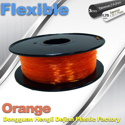 चीन Orange Flexible 3D Printer Filament Consumables With Great Adhesion आपूर्तिकर्ता